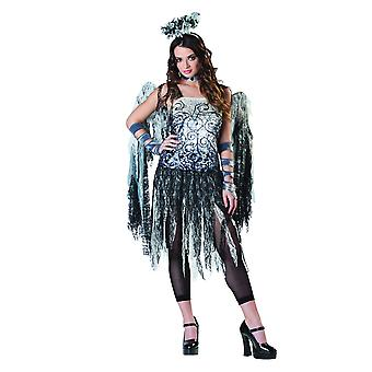 Womens Dark Angel Halloween fancy dress kostuum (maat 8-10)