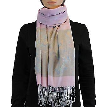 Scarf/shawl/Shawl 100% Pashmina light pink Multi Color