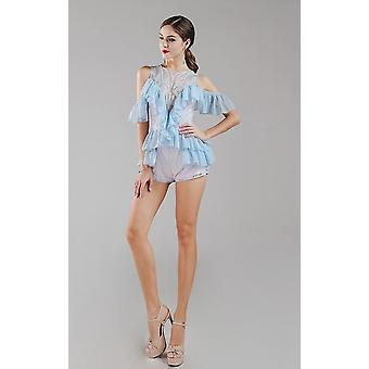 Light blue play suit