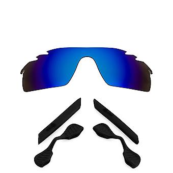 Replacement Lenses Kit Compatible with OAKLEY Vented RADARLOCK PATH Blue & Black