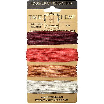 Hemp Cord 20# 120' Pkg Coral Reef Hc20 Cr
