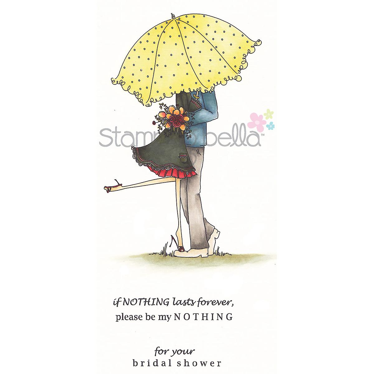 Stamping Bella Cling Rubber Stamp Emily And Ryan Under The Umbrella Eb239