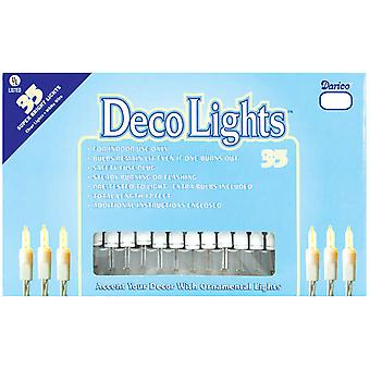 Deco Lights 35 Count 12 Feet Clear Bulbs with White Wire Lt35 1
