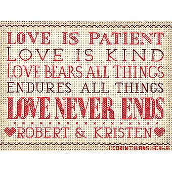 Love Is Patient Mini Counted Cross Stitch Kit 7