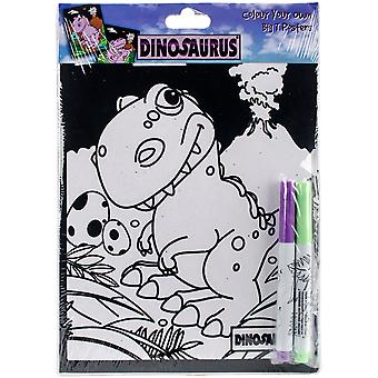 Dinosaurus Color Your Own Poster-Big T DCCYO-1