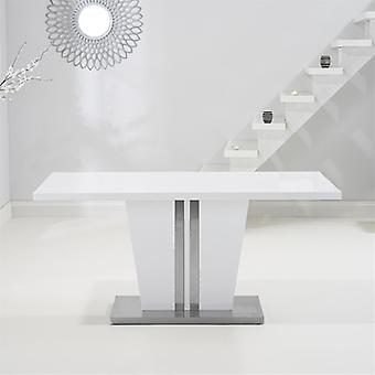 Mark Harris Vigo 160cm White High Gloss Dining Table