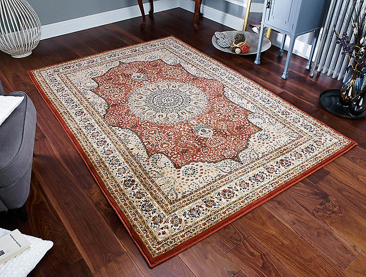 Royal Classic 34P Shades of pêche, terre cuite et beige Rectangle Tapis Tapis traditionnels