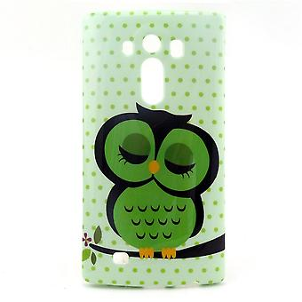 Cover OWL sleeping in TPU rubber for LG G4