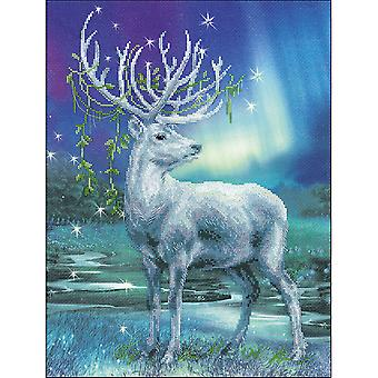 White Stag Counted Cross Stitch Kit-11.75