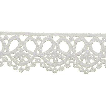 Trifoil Edge Venice Lace Trim 1-3/8