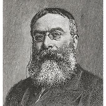 Sir Walter Besant 1836-1901 englischer Schriftsteller und Historiker aus dem Strand Magazine veröffentlicht 1894 PosterPrint