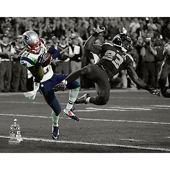Malcolm Butler avlyssning Super Bowl XLIX Spotlight Photo Print
