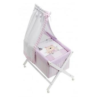 Interbaby Minicuna with textile Pasword White and Pink