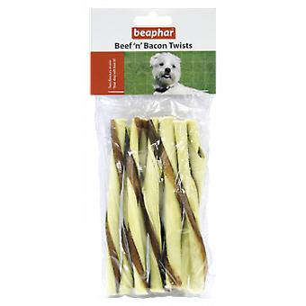 Beaphar Beef and Bacon Twists sticks (Cani , Snack , Bastoncini)