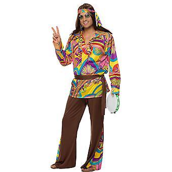 Hippiekostüm Herren 60er Flower Power Kostüm