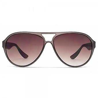 French Connection Plastic Pilot Sunglasses In Matte Crystal Grey