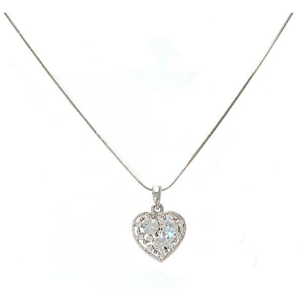 W.A.T Sparkling Crystal Sweet Heart Pendant Necklace