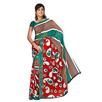 Bhagwati Georgette gedruckt Casual Sari Sari Bauchtanz Stoff