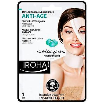Iroha Nature Algodón Mask Face & Neck Collagen-Antiage