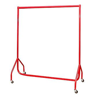 5ft Red Heavy Duty Garment Rail 152x155x50cms made in UK