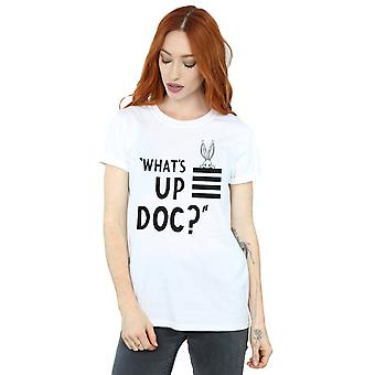 Looney Tunes Women's Bugs Bunny What's Up Doc Stripes Boyfriend Fit T-Shirt