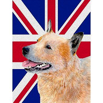 Australian Cattle Dog con dimensione del giardino inglese Union Jack British Flag Bandiera
