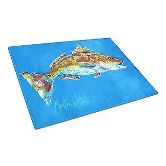 Carolines Schätze MW1098LCB Fisch - rot Fisch Meeresfrüchte zwei Glas-Schneidebrett L