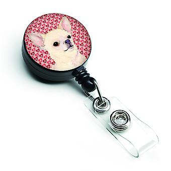 Carolines Treasures  SS4472BR Chihuahua  Retractable Badge Reel or ID Holder wit