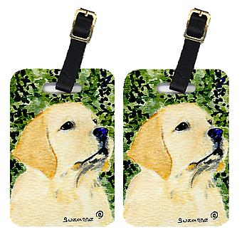 Carolines Treasures  SS8803BT Pair of 2 Labrador Luggage Tags