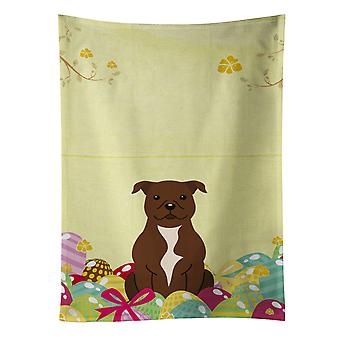 Easter Eggs Staffordshire Bull Terrier Chocolate Kitchen Towel