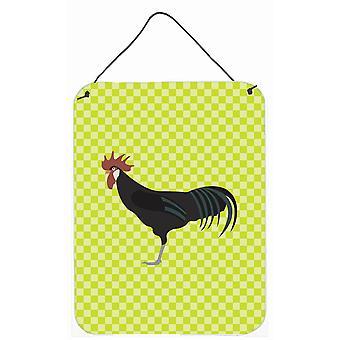 دجاج كتالالان مينوركا الأخضر الجدار أو الباب معلقة يطبع
