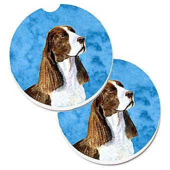 Blue Springer Spaniel Set of 2 Cup Holder Car Coasters