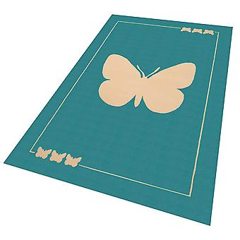 Design suede play mat for kids Butterfly 140 x 200 cm