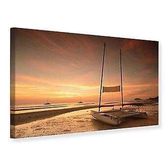 Canvas Print Sunset On The Beach