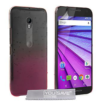 Motorola Moto G 3rd Gen Raindrop Hard Case - rosa