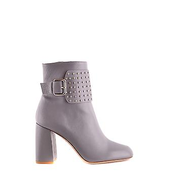 Red Valentino women's NQ0S0999VGN113 grey leather ankle boots