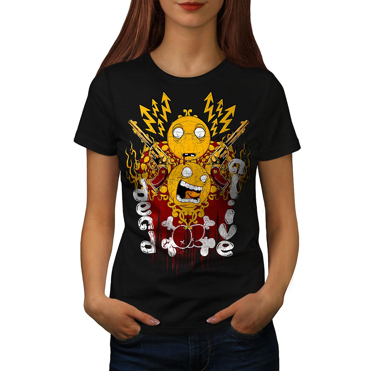 Dead Or Alive Gun Horror Women Black T-shirt | Wellcoda