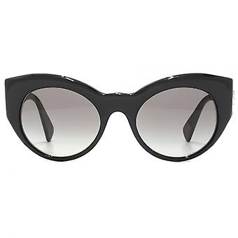 Versace Medusa Cateye Sunglasses In Black Glitter