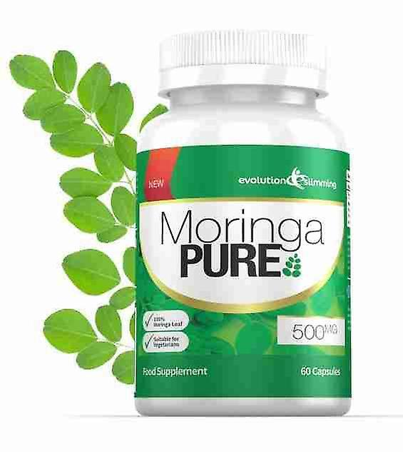 Moringa Pure Capsules 500mg - 60 Capsules - Antioxidant - Evolution Slimming