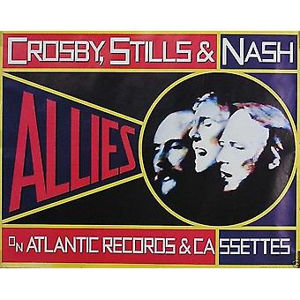 Crosby Stills & Nash CSN Allies Poster