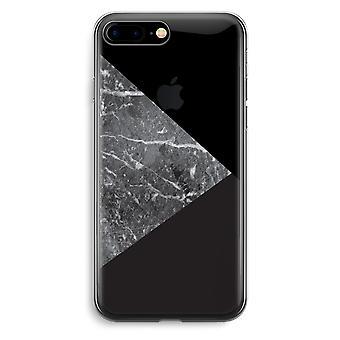 أي فون 7 بالإضافة إلى حالة شفافة (الناعمة)--مزيج الرخام