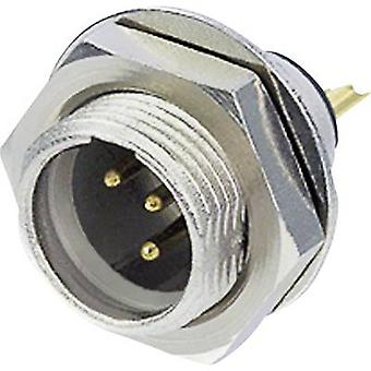 XLR connector Plug, vertical mount Number of pins: 4 Silver Rean AV RT4MPR 1 pc(s)