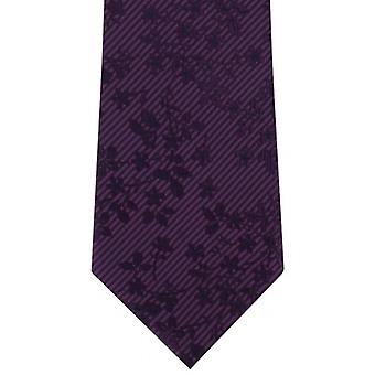 Michelsons of London Tonal Floral Polyester Tie - Purple