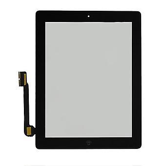 iPad 3 scherm digitizer glas touchscreen - zwart - A+ kwaliteit