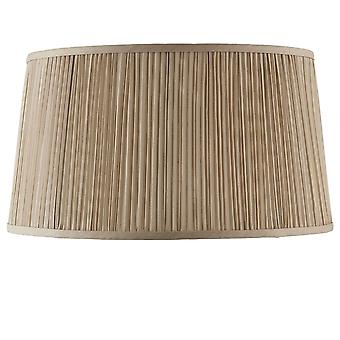 Interiors 1900 Kemp 17 Inch Shade With Pleated Beige Faux Sil