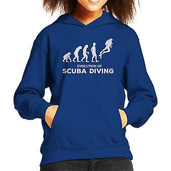 Evolution Of Scuba Diving Kid's Hooded Sweatshirt