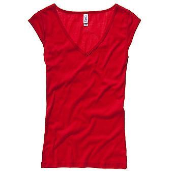 Bella Deep V Neck Fashion Ladies Casual T Shirt