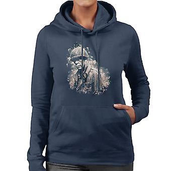 Lee Marvin In The Big Red One 1978 Women's Hooded Sweatshirt