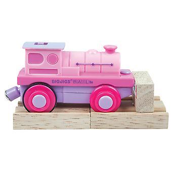 Bigjigs trein roze batterij aangedreven trein motor