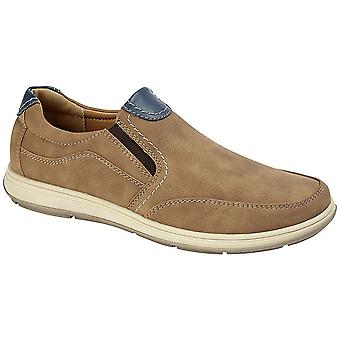 Mens Slip On Lightweight Twin Gusset Casual Smart Leisure Shoes
